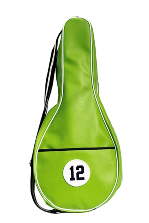 Green Synthetic Leather Tennis Bag