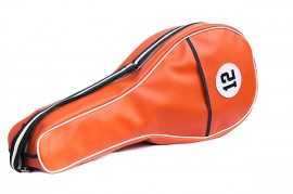 ORANGE Synthetic Leather Tennis Bag