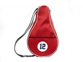 RED Imitation leather Paddle Bags