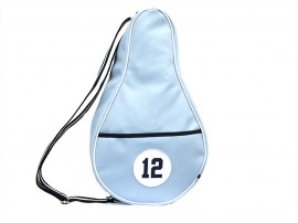 BLUE imitation leather paddle bag