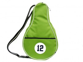 GREEN Imitation Leather Paddle bag