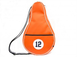 ORANGE Imitation leather Paddle bag