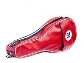 RED synthetic leather Tennis Bag